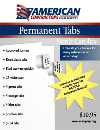 Permanent Tabs for the North Carolina Business and Project Management book